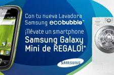PromoEcobubble Galaxy Mini de regalo por la compra de la lavadora Eco Bubble de Samsung