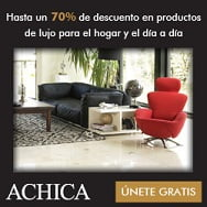 achica2 Hasta del 70% de descuento en lujo y caprichos para tu casa.