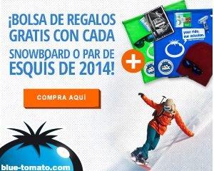 bolsa bluetomato Promoción BlueTomato - Bolsas con Regalos Gratis con Snowboard y Esquí
