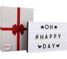 caja de luz con letras ZonaRegalo - Ofertas de Navidad