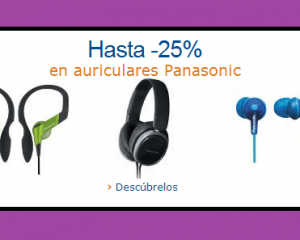 ofertas auriculares1 Chollos en Auriculares Panasonic - Descuentos hasta el 30%