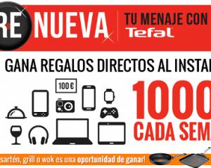 promocion el sartenazo tefal Promoción Tefal: Compra una Sartén, Grill o Wok y gana Regalos y 1000 Euros cada semana